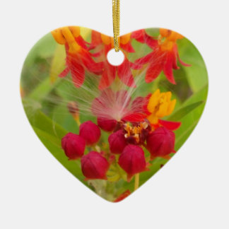 Hakuna Matata lovely green red yellow Flower Buds. Christmas Ornament