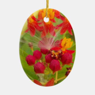 Hakuna Matata lovely green red yellow Flower Buds. Ornaments