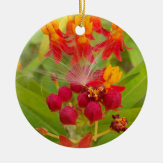 Hakuna Matata lovely green red yellow Flower Buds. Ornament