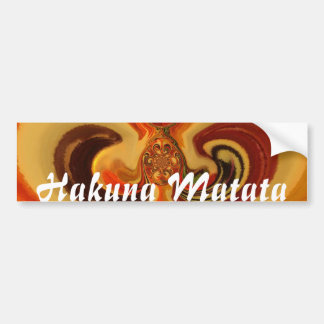 Hakuna Matata Lovely Traditional   Design Bumper Sticker