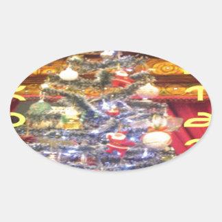 Hakuna Matata Merry Christmas & a Happy New Year.p Oval Sticker