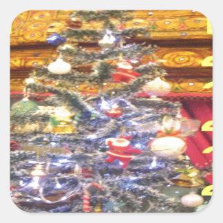 Hakuna Matata Merry Christmas & a Happy New Year.p Square Sticker