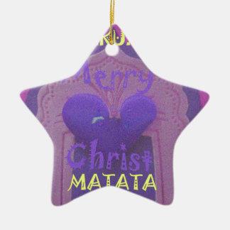 Hakuna Matata Merry Christmas Love  Design.jpg Ceramic Ornament
