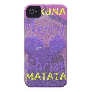 Hakuna Matata Merry Christmas Love  Design.jpg iPhone 4 Case-Mate Case