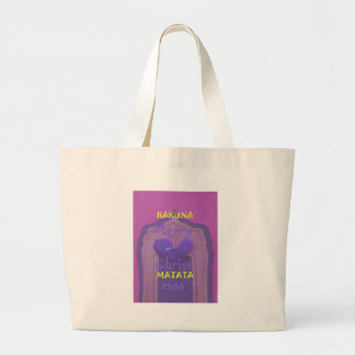 Hakuna Matata Merry Christmas Love  Design.jpg Large Tote Bag