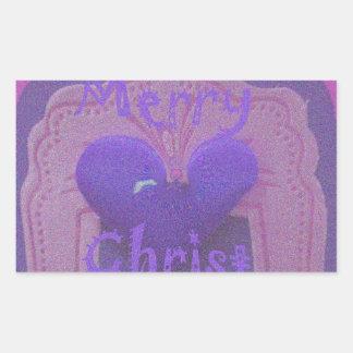 Hakuna Matata Merry Christmas Love  Design.jpg Rectangular Sticker