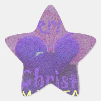Hakuna Matata Merry Christmas Love  Design.jpg Star Sticker