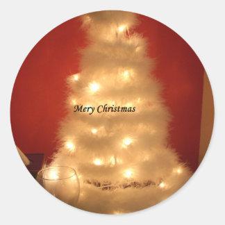 Hakuna Matata Merry Christmas white Classic Round Sticker