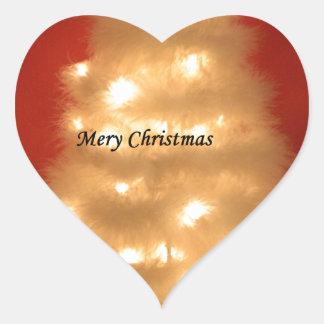 Hakuna Matata Merry Christmas white Heart Sticker