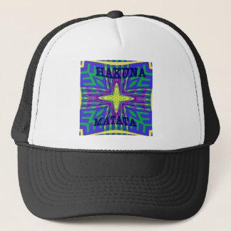 Hakuna matata Mombasa Kanga Trucker Hat
