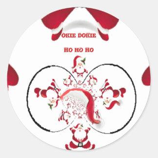 Hakuna Matata Okie Dokie hohoho Santa Christmas sp Classic Round Sticker