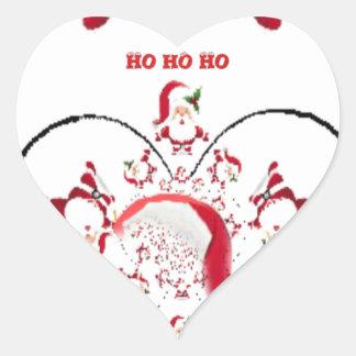 Hakuna Matata Okie Dokie hohoho Santa Christmas sp Heart Sticker