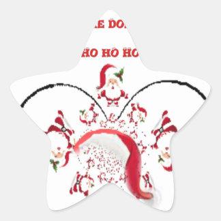 Hakuna Matata Okie Dokie hohoho Santa Christmas sp Star Sticker