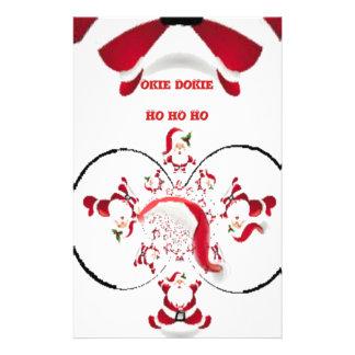 Hakuna Matata Okie Dokie hohoho Santa Christmas sp Custom Stationery