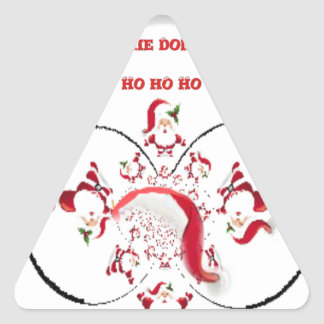Hakuna Matata Okie Dokie hohoho Santa Christmas sp Triangle Sticker