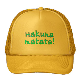 Hakuna Matata on T-shirts, Hoodies, Mugs Trucker Hat