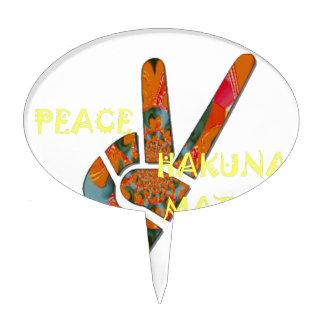 Hakuna Matata Peace Cake Topper