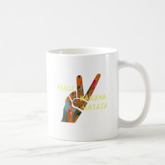 Hakuna Matata Peace Coffee Mug