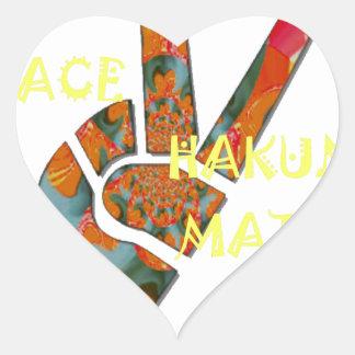 Hakuna Matata Peace Heart Sticker