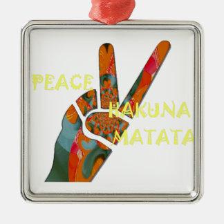 Hakuna Matata Peace Metal Ornament