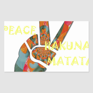 Hakuna Matata Peace Rectangular Sticker