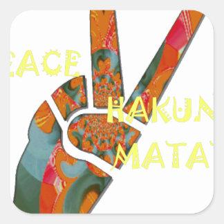 Hakuna Matata Peace Square Sticker