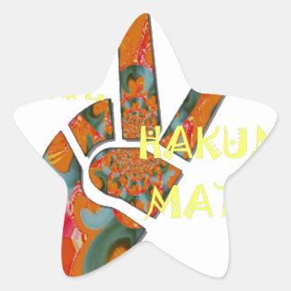 Hakuna Matata Peace Star Sticker