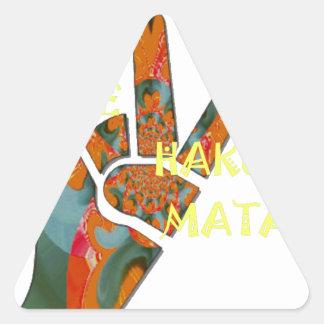 Hakuna Matata Peace Triangle Sticker