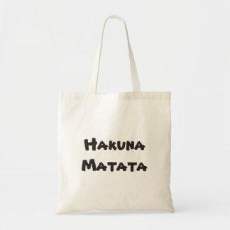 Hakuna Matata Plain totebag Tote Bag