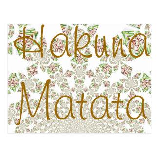 Hakuna Matata Postcard Horizontal - Customized