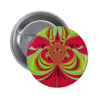 Hakuna Matata red yellow design 2 Inch Round Button