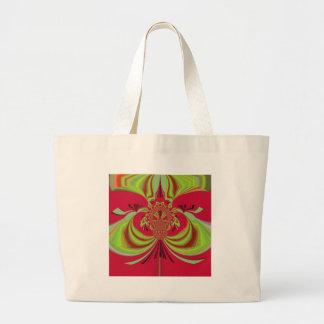 Hakuna Matata red yellow design Large Tote Bag