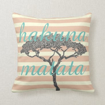 Beach Themed Hakuna matata! Relax beach holiday home decoration Throw Pillow