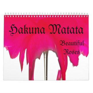 Hakuna Matata Roses Illusion Custom Calendar