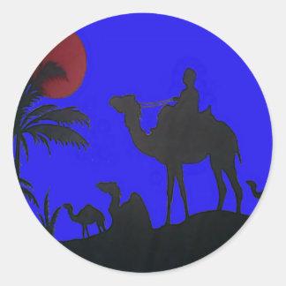 Hakuna Matata safari Blue sky Sunset Classic Round Sticker