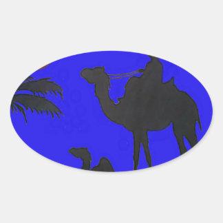 Hakuna Matata safari Blue sky Sunset Oval Sticker