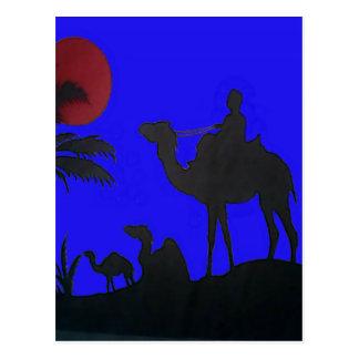 Hakuna Matata safari Blue sky Sunset Postcard
