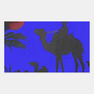 Hakuna Matata safari Blue sky Sunset Rectangular Sticker