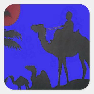 Hakuna Matata safari Blue sky Sunset Square Sticker