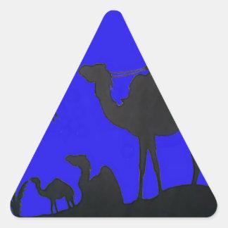 Hakuna Matata safari Blue sky Sunset Triangle Sticker