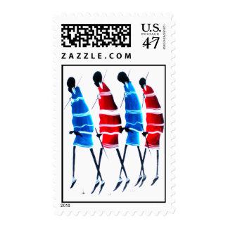 Hakuna Matata Safari Maasai Morans Postage Stamps