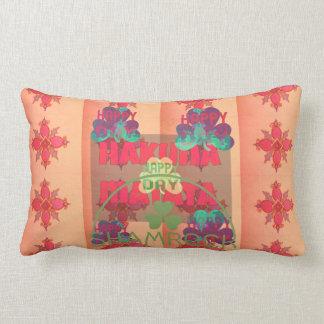 Hakuna Matata Shamrock young sprig of clover Text Lumbar Pillow