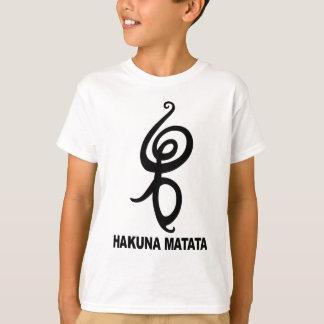 Hakuna Matata - símbolo africano Playera