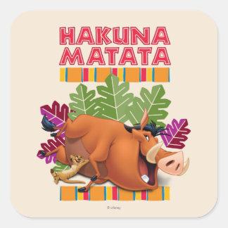 Hakuna Matata Square Sticker