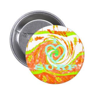 Hakuna Matata Summer Baby Kids I Love Surfing..png 2 Inch Round Button