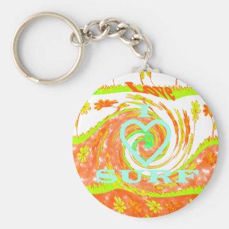 Hakuna Matata Summer Baby Kids I Love Surfing..png Basic Round Button Keychain