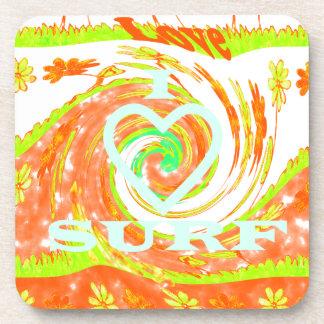Hakuna Matata Summer Baby Kids I Love Surfing..png Drink Coaster