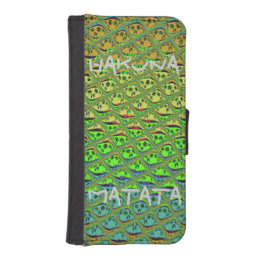 Hakuna Matata Summertime iPhone 5/5s Wallet Case