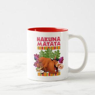 Hakuna Matata Taza De Dos Tonos