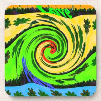 Hakuna Matata Tsunami Love Wave Colors.png Drink Coaster